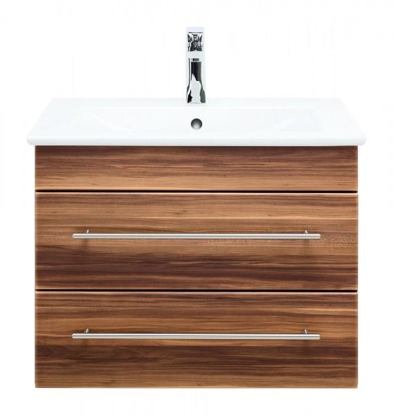 Waschtisch mit Unterschrank 65 cm Villeroy und Boch Waschbecken walnuss