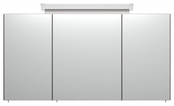 Bad Spiegelschrank 120 cm anthrazit Seidenglanz mit Leuchte