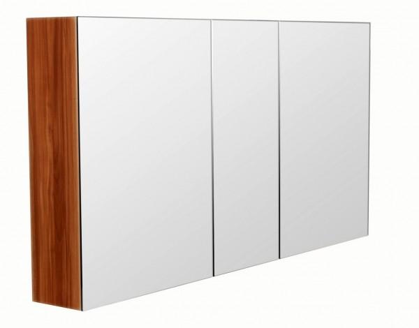 Bad Spiegelschrank 120 cm in walnuss mit 3 Spiegeltüren