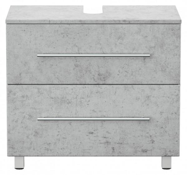 Universal Waschbeckenunterschrank beton 70 cm breit mit zwei Schubkästen
