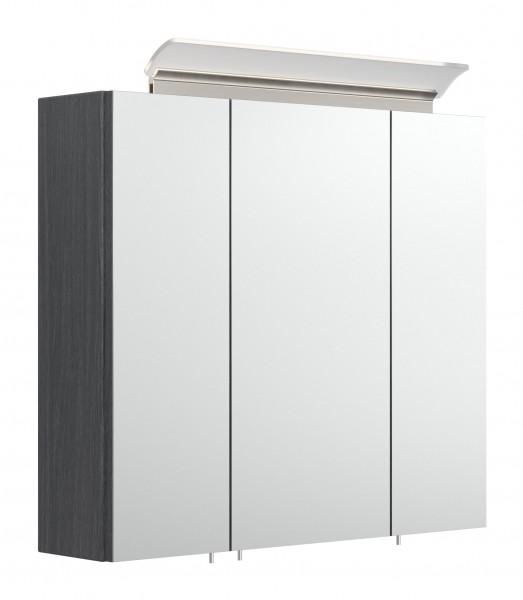 Bad Spiegelschrank anthrazit gemasert 70 cm breit