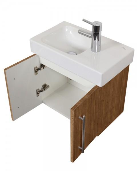 Unterschrank Bad für Keramag Icon XS Waschbecken in eiche hell 53 cmb