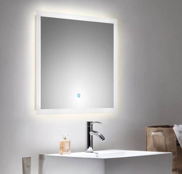 Lichtspiegel 70x60 cm mit LED Beleuchtung und Touch Bedienung
