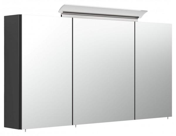Badezimmer Spiegelschrank schwarz 120 cm