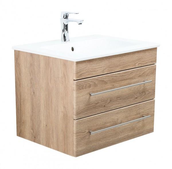 Unterschrank mit Waschbecken 60 cm Villeroy und Boch Venticello eiche hell