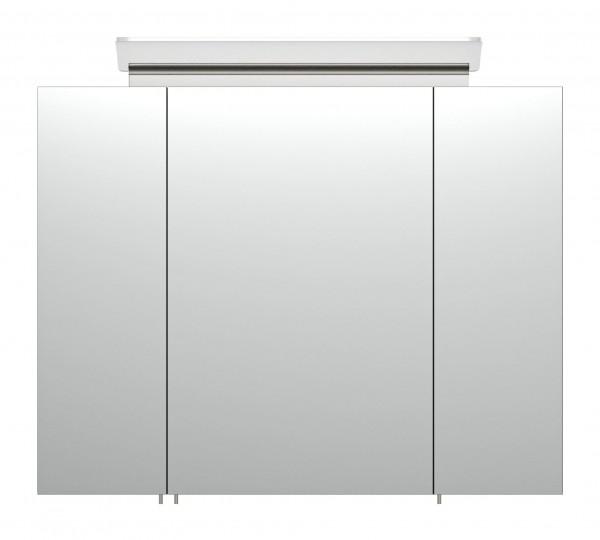 Geräumiger Bad Spiegelschrank schwarz Seidenglanz 80 cm